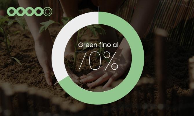 4 cerchi:<br/>impegno eco&bio consolidato.